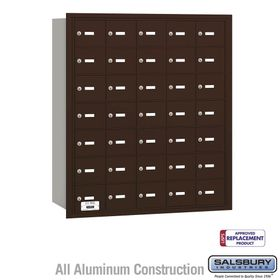 Salsbury 3635ZRU 4B Mailboxes 35 Tenant Doors Rear Loading - USPS Access