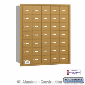 Salsbury 3635GRU 4B Mailboxes 35 Tenant Doors Rear Loading - USPS Access