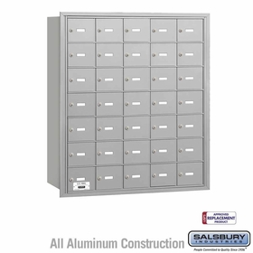 Salsbury 3635ARU 4B Mailboxes 35 Tenant Doors Rear Loading - USPS Access