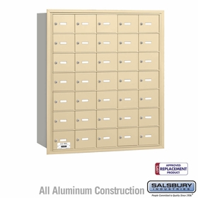 Salsbury 3635SRU 4B Mailboxes 35 Tenant Doors Rear Loading - USPS Access