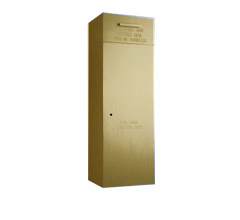 """Front Loading, Fully Recessed, Powdercoat Gold 36"""" High Mail Collection Drop Box"""