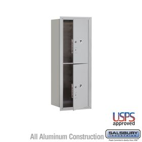 Salsbury 3712S-2PAFU 4C Mailboxes 2 Parcel Lockers Front Loading