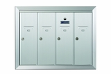 4 Door Recessed Vertical Mailboxes