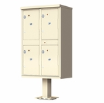 Quad Outdoor Parcel Lockers
