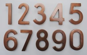 4 Inch Brass Numbers in Copper