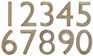4 Inch Solid Brass House Numbers (0-9) - Choose Finish