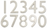 5 Inch Solid Brass House Numbers (0-9) - Choose Finish