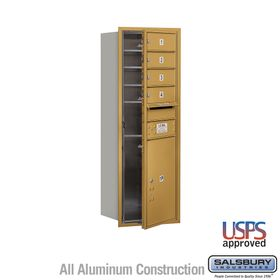 Salsbury 3711S-04GFU 4C Mailboxes 4 Tenant Doors Front Loading