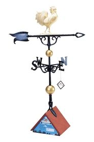 "Whitehall 46"" Traditional Directions Full-Bodied ROOSTER Weathervane in Metallic Finish"