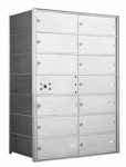 American Eagle 4B Mailbox with 13 double wide doors