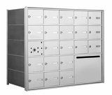American Eagle 4B Mailbox with 20 doors and 1 outgoing mail collection