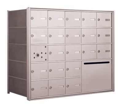 4B+ Front-Loading Horizontal Mailboxes - 20 Tenant doors and 1 Outgoing Mail Collection