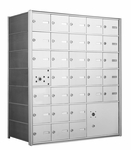 American Eagle 4B Mailbox with 30 doors and 1 parcel locker
