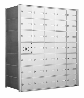 4B+ Front-Loading Horizontal Mailboxes - 34 Tenant Doors And 1 USPS Master Door