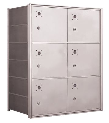 4B+ Front-Loading Horizontal Mailboxes - 6 Parcel lockers