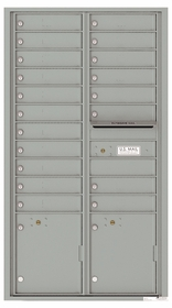Front Loading Commercial Mailbox with 19 Tenant Compartments and 2 Parcel Lockers - Versatile Double Column Mailbox