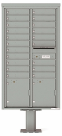 4C Pedestal Mailboxes with Parcel Lockers 19 to 20 Doors