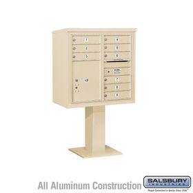 4C Pedestal Mailboxes with Parcel Lockers - 9 to 10 Doors