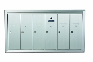 6 Door Recessed Vertical Mailboxes