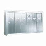 6 Door Surface Vertical Mailboxes