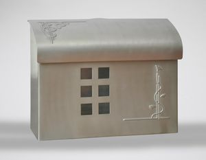E7 Wall Mount Mailbox - Satin Nickel Plated