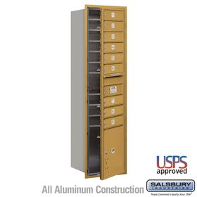 Salsbury 3716S-09GFU 4C Mailboxes 9 Tenant Doors Front Loading