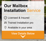 Add Installation to Cluster Mailbox Purchase