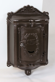 Amco Colonial Wallmount Mailbox in Textured Bronze