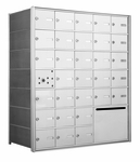 American Eagle 4B Mailbox with 30 doors and 1 outgoing mail collection