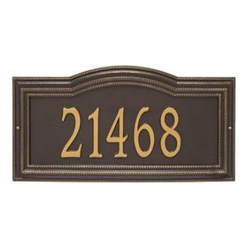 Arbor Extra Grande Personalized 1-Line Signature Wall Address Plaque (Choose Color)
