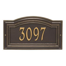 Arbor Grande Personalized 1-Line Signature Wall Address Plaque (Choose Color)