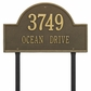 Arch Marker Estate Two Line Lawn Address Sign