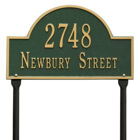 Arch Marker Standard Two Line Lawn Address Sign