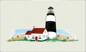Bluegrass Woods Lighthouse and Landscape Strong Box Post Mount Mailboxes