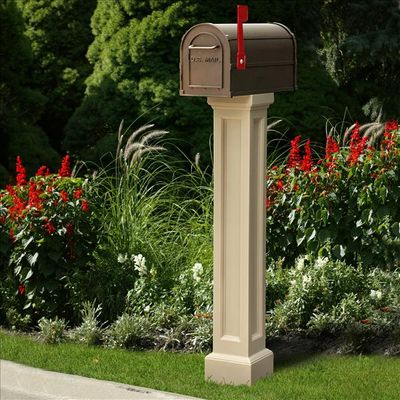 Bradford Mailbox Package in Clay