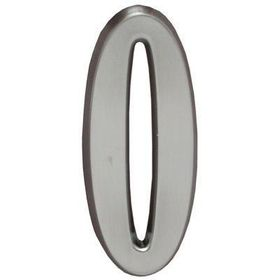 "Whitehall Brushed Nickel 4.75"" House Address Numbers Number ""0"""