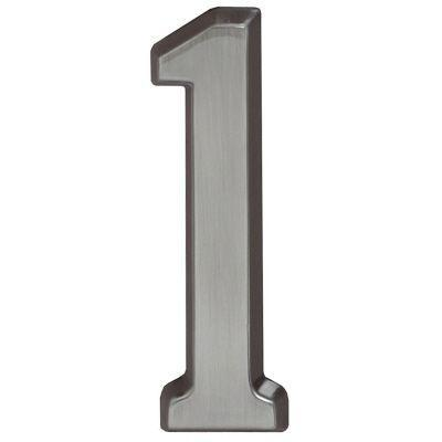 "Whitehall Brushed Nickel 4.75"" House Address Numbers Number ""1"""