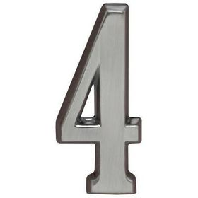 "Whitehall Brushed Nickel 4.75"" House Address Numbers Number ""4"""