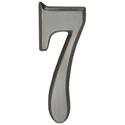 """Whitehall Brushed Nickel 4.75"""" House Address Numbers Number """"7"""""""