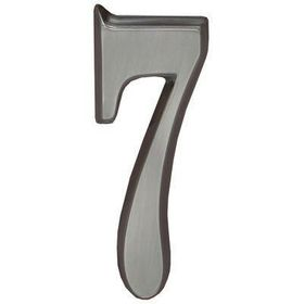 "Whitehall Brushed Nickel 4.75"" House Address Numbers Number ""7"""
