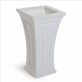 Cambridge Tall Planter - White