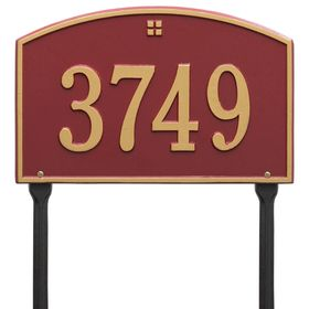 Cape Charles Standard One Line Lawn Address Sign