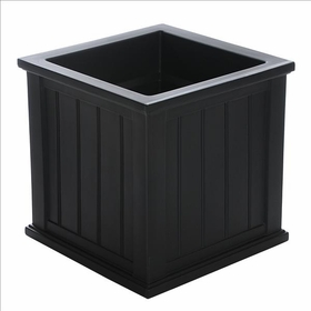 Cape Cod 20 x 20 Patio Planter - Black