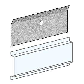 Salsbury 3697 Card Holder Clear Plastic For 4B+ Horizontal Mailboxes