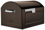 Centennial Large Capacity Mailbox - Rubbed Bronze with Silver Flag
