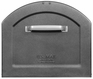 Centennial Large Capacity Mailbox - Metallic Pewter with Red Flag