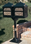 Classic Double Mount Pedestal Mailbox System