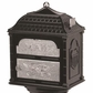 Classic Pedestal Mailbox Package - Black with Satin Nickel