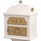 Classic Mailbox Top - White with Polished Brass Accents