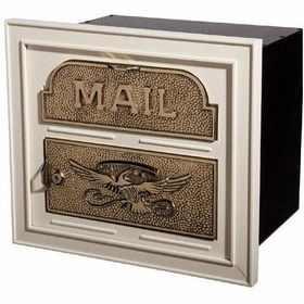 Column Insert Mailboxes - Almond with Antique Bronze Accents